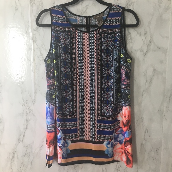Kenar Multi Print Sleeveless Top